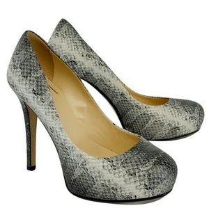Kate spade snakeskin heels